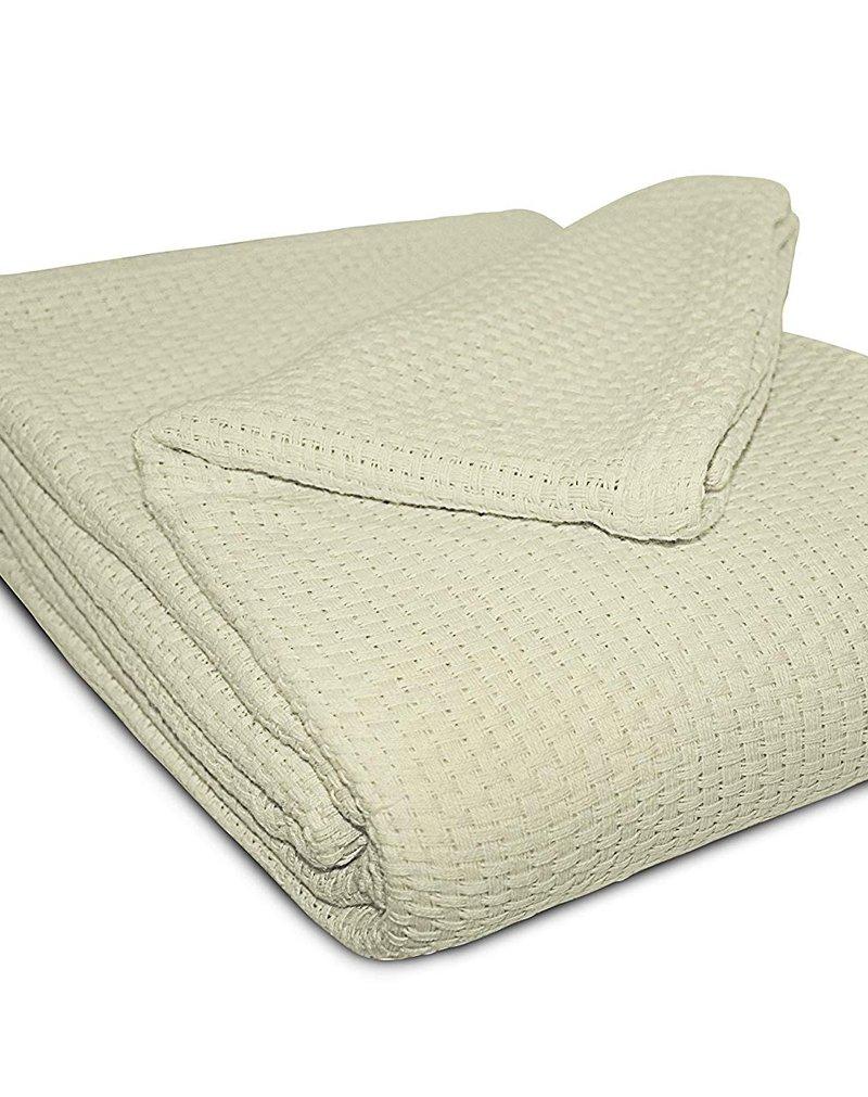 Amazon Stylish Cotton Basket Weave Blanket