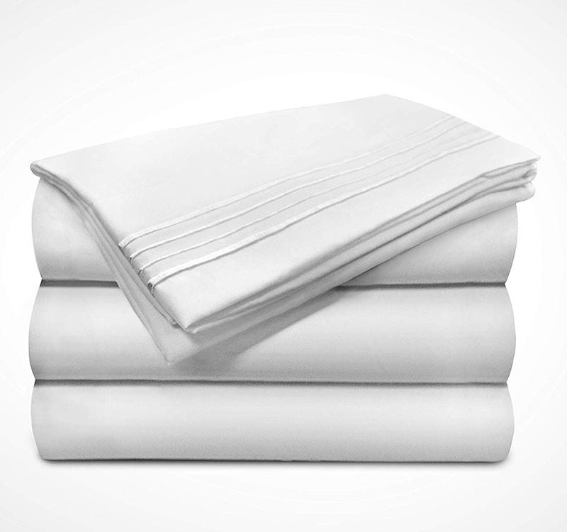 Microfiber Sheet In White